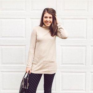 Womens Cream Turtleneck Sweater Dress On Poshmark